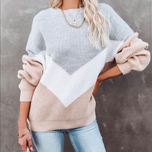 VICI Give Love a Chance Color Blocked Sweater
